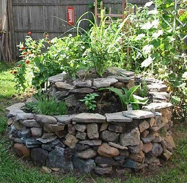 Herb Spiral In Home Garden