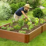 Recycled wood composite planting bed