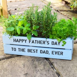 personalized herb garden box