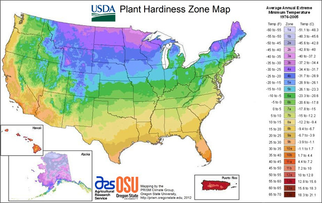 USDA Garden Zone Map