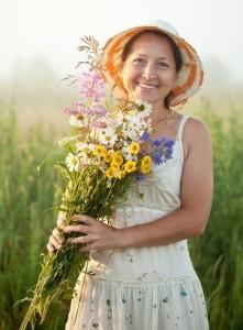 Pretty herb gardener