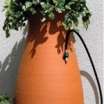 rainwater collection system with planter