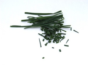 chopped chives for cooking