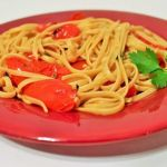Recipe: Easy Linguine and Roasted Tomatoes with Basil