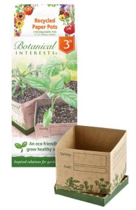 brown paper pot and packaging for growing seedlings