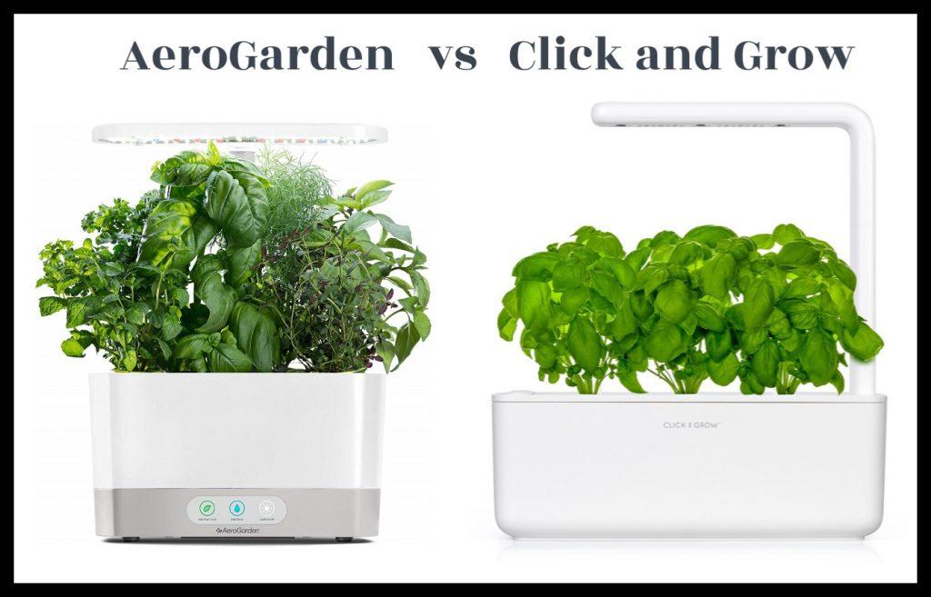 Aerogarden vs Click and Grow comparison Image