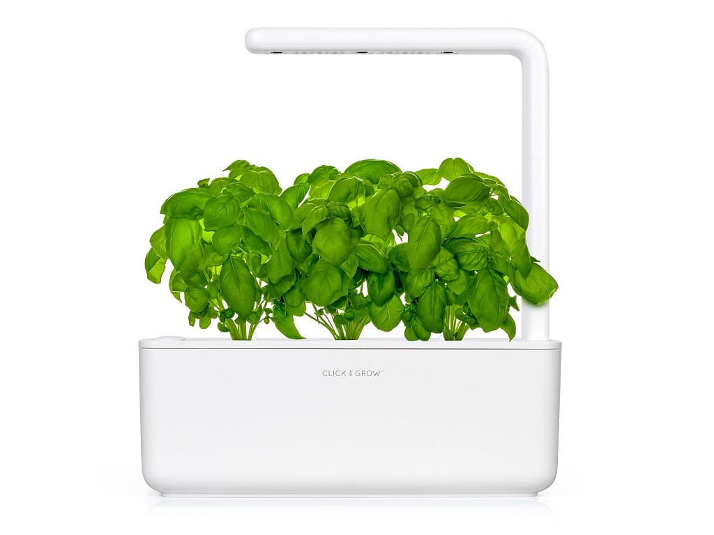 The Click and Grow Smart Garden on a white background