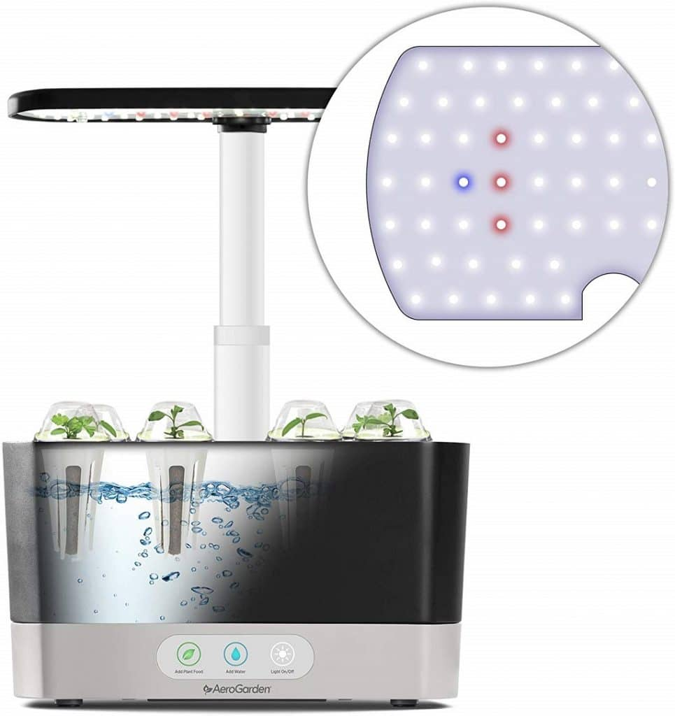 closeup of the aerogarden water pump