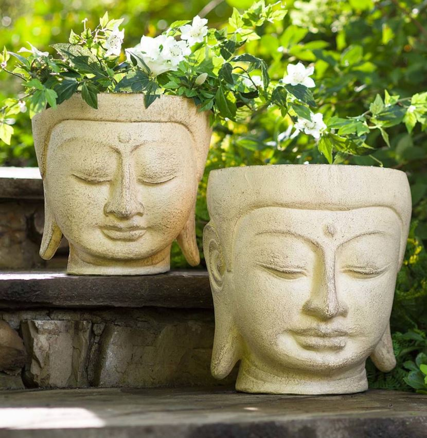 Budha Bust Planters by Vivaterra