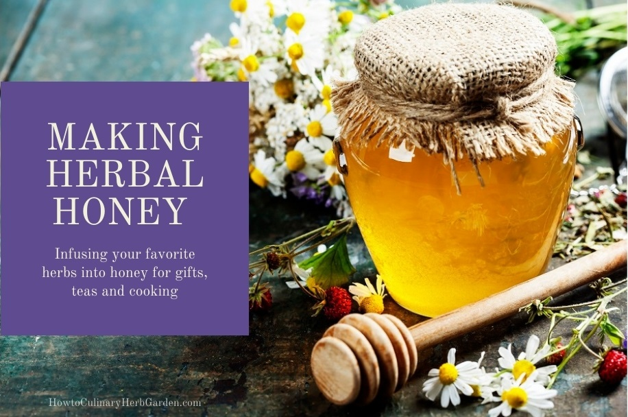 Making herbal honey - infusing your favorite herbs into honey for gifts, teas and cooking.