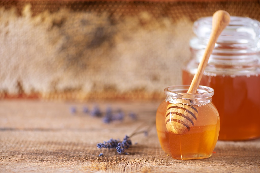 Herbal honey infused with lavender