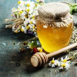 herbs with honey