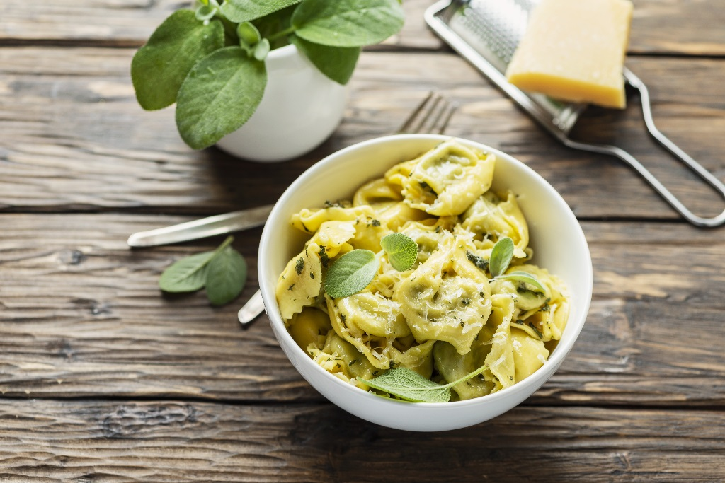sage and ravioli pasta