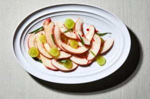 Peach and tarragon salad