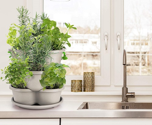 Stackable Herb Planters by Amazing Creations