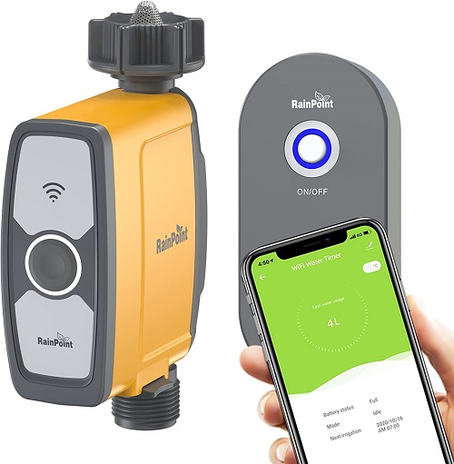 Programable sprinkler timer with smartphone